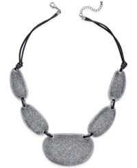 Styleandco. Style And Co. Silver Tone Cord Glitter Drama Necklace Only At Macy's