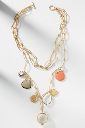 Anthropologie Setting Sun Layered Necklace Gold