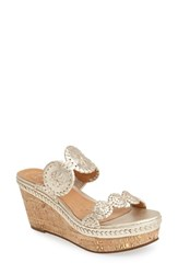 Women's Jack Rogers 'Leigh' Wedge Sandal Platinum
