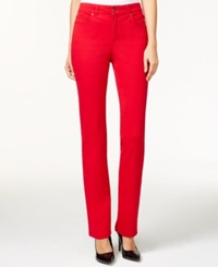 Charter Club Lexington Straight Leg Jeans Red Amore New Red Amore