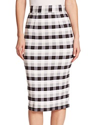 Tanya Taylor Peggy Checked Midi Skirt Grey Plaid