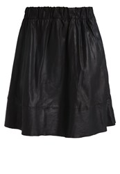 Selected Femme Sfsalwa Leather Skirt Black