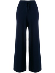 N.Peal Cashmere Chain Embellished Trousers Blue