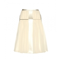 Christopher Kane Satin And Silk Skirt Ivory