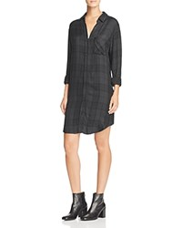 Rails Bianca Plaid Shirt Dress Carbon Black