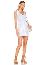 Red Valentino Fit And Flare Mini Dress White