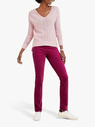 Pure Collection Washed Velvet Jeans Fuchsia Pink