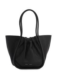 Proenza Schouler Large Smooth Leather Tote Bag Black