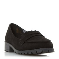 Head Over Heels Gissell Heavy Cleated Loafers Black