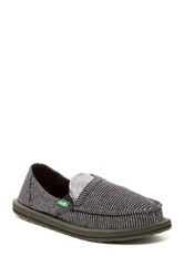 Sanuk Pick Pocket Stripes Micro Fleece Lined Flat Brown