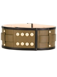Balmain Studded Belt Brown