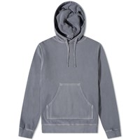 Officine Generale Olivier Pigment Dyed Hoody Grey