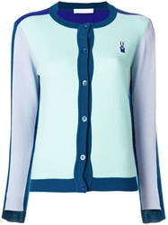 Peter Jensen Colourblock Cardigan Blue