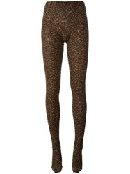 Missoni Knitted Tights Brown