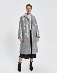House Of Sunny Long Tailored Houndstooth Trench