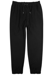 Mcq By Alexander Mcqueen Black Embroidered Slim Leg Jogging Trousers