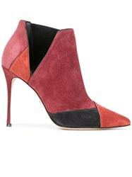 Sergio Rossi Stiletto Ankle Boots Red