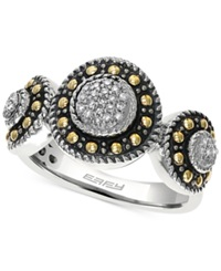 Effy Collection Effy Diamond Circle Ring 1 8 Ct. T.W. In 18K Gold And Sterling Silver