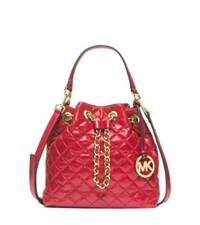 Michael Kors Frankie Medium Quilted Leather Messenger Dark Red