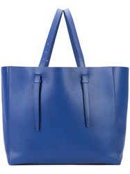 Valextra Soft Tote Unisex Calf Leather One Size Blue