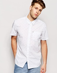 Bench Short Sleeve Chevron Shirt White