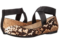 Jessica Simpson Mandalay 3 Natural Black Snake Print Haircalf Elastic Women's Flat Shoes Animal Print