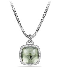Albion Pendant With Prasiolite And Diamonds Silver David Yurman