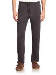 Hanro Solid Ribbed Long Pants Beluga