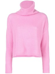Maison Ullens Turtle Neck Sweater Pink