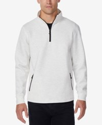 32 Degrees Men's Fleece Quarter Zip Tech Jacket Heather White