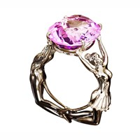 Aenea Maggie And Rudi Ring Pink Amethyst Black Silver Pink