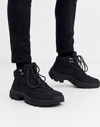 New Look Chunky Hiker Boots In Black