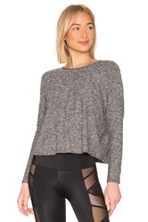 Beyond Yoga Morning Lightweight Cropped Pullover Gray