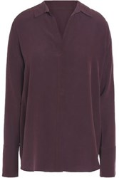 Charli Silk Crepe De Chine Top Grape