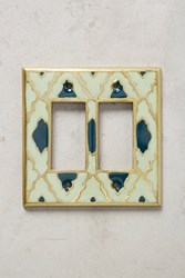 Anthropologie Zagora Switch Plate Blue Motif