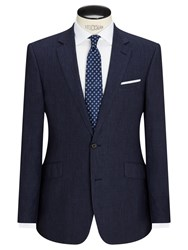 John Lewis Linen Regular Fit Suit Jacket Indigo