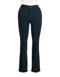 Nydj Plus Marylin Straight Jeans Teal Shadow