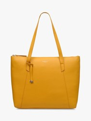 Radley Wood Street Large Leather Tote Bag Buttercup