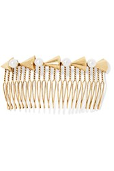 Lelet Faux Pearl Embellished Gold Tone Hair Slide One Size