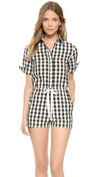 Solid And Striped The Romper Black Gingham