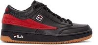Gosha Rubchinskiy Black And Red Fila Edition T 1 Mid Top Sneakers