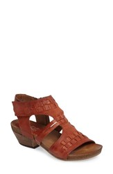 Miz Mooz Women's Calico Strappy Cutout Sandal Rust Leather