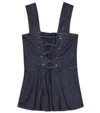 See By Chloe Sleeveless Denim Top Blue
