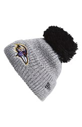 Men's New Era Cap 'Cuff Star Baltimore Ravens' Pompom Knit Beanie