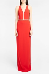 Alexander Wang Women S Sheer Panelled Gown Boutique1 Red