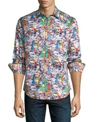 Robert Graham It's A Wrap Holiday Woven Shirt Multi
