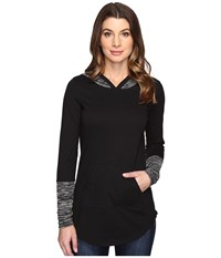 Mod O Doc Classic Jersey Pullover Hoodie Black Women's Long Sleeve Pullover