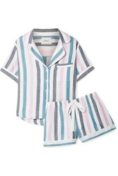 Rails Striped Voile Pajama Set Blue