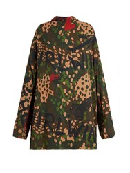 Vivienne Westwood Floral Graffiti And Camouflage Print Tunic Multi