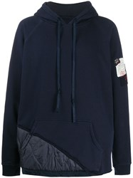 Paul And Shark Long Sleeve Quilted Panel Hoodie 60